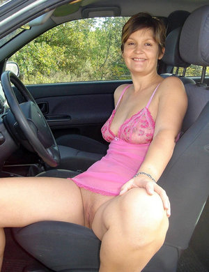 Something is. naked woman driving car consider