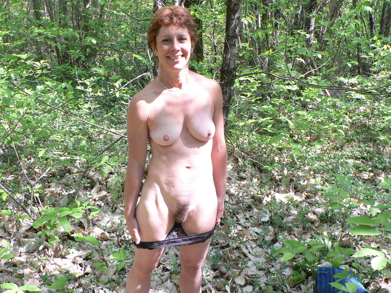 Naked older women in public