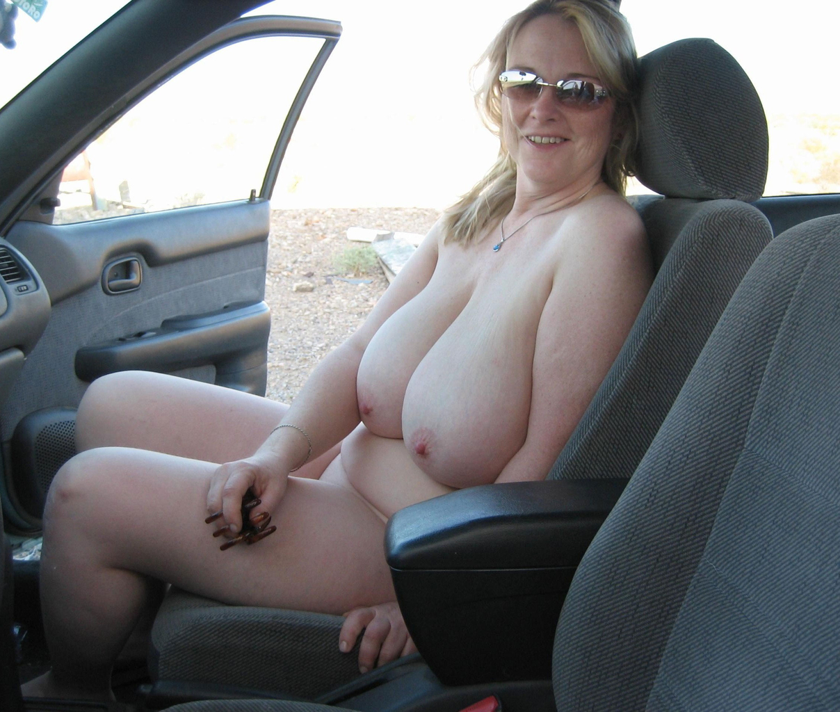 Ready Car showing tits in public excellent variant