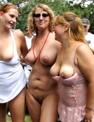 Women nudity in public
