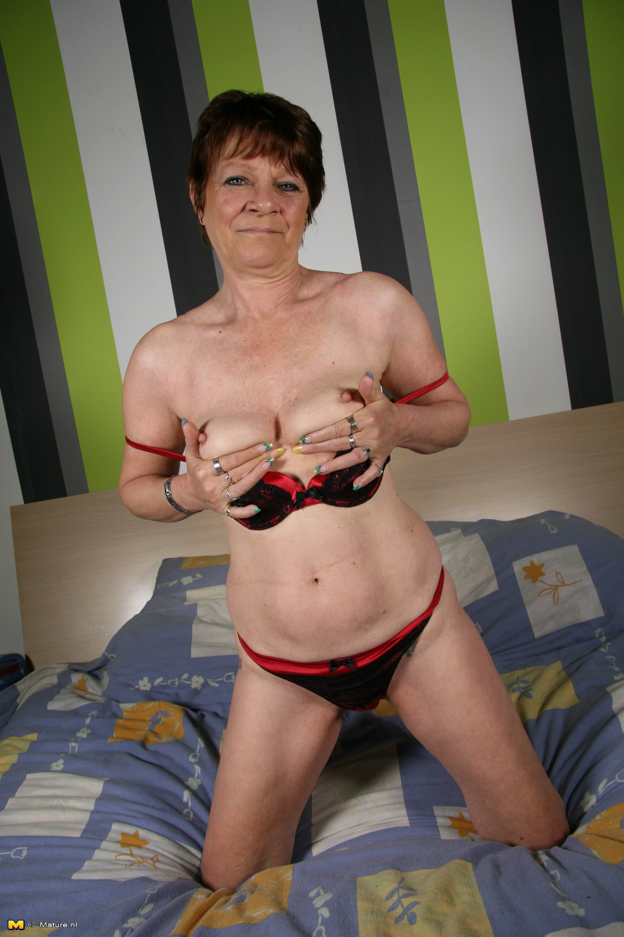 Naughty Dutch Mature Slut Getting Ready To Tease And Please