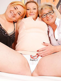 Group lesbian pregnant mature and
