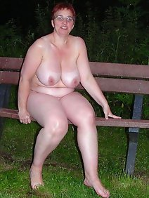 busty; chubby; flashing; outdoors; public;
