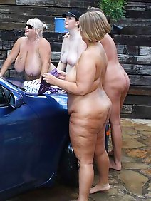 busty; car; chubby; flashing; housewives; outdoors; public;
