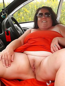 busty; car; chubby; flashing; nude; outdoors; public;